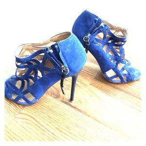 L.A.M.B. Blue suede high heels